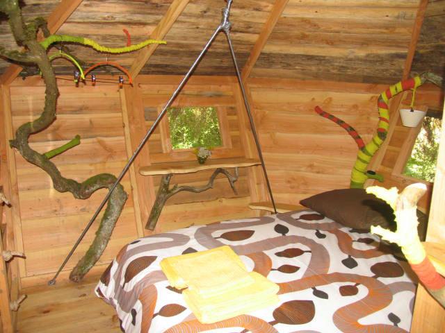 intérieur de la cabane
