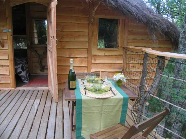 Terrasse de la cabane