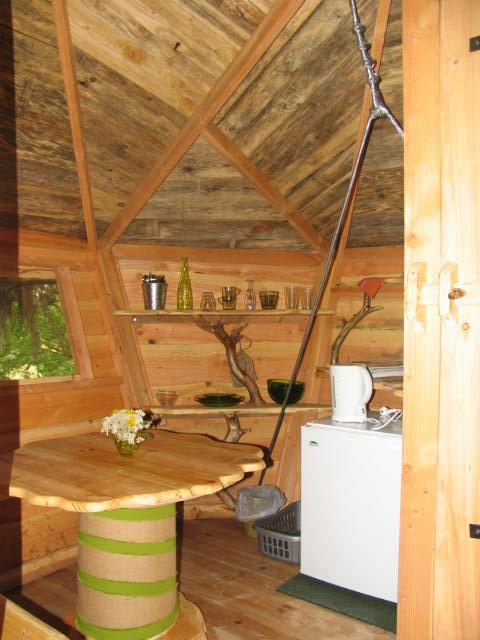 Kitchenette de la cabane