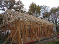 Bâtiment bois paille en construction